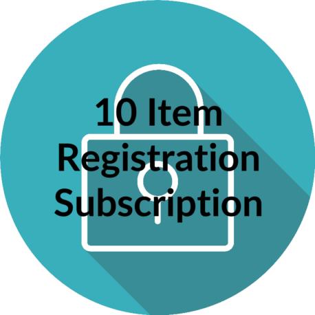 10 item registration subscription